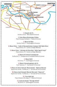 Mappa musei Oglio Po